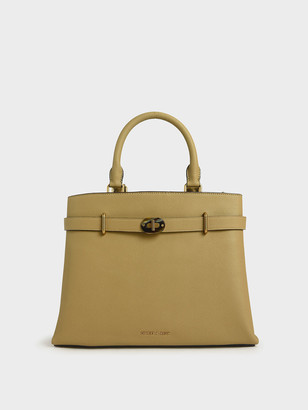 Charles & Keith Large Turn-Lock Tote Bag