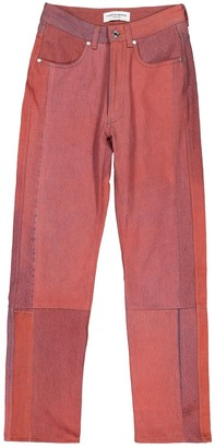 Marine Serre Red Denim - Jeans Trousers
