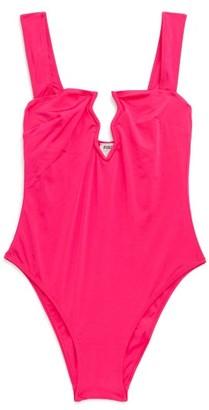 Fisch Rajalin Zigzag-cutout Swimsuit - Pink
