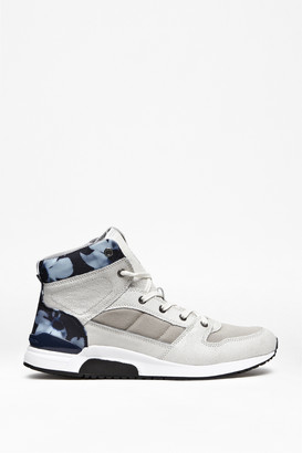 French Connection Charles Leather Hi-Top Trainers