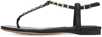Salvatore Ferragamo 10mm Tahiti Leather Thong Sandals