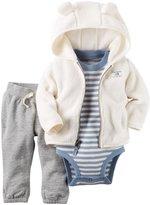 Carter's 3 Piece Cardigan Set (Baby) - Heather - 3 Months