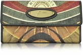 Gattinoni Planetarium Coated Canvas Zip Pocket Women's Wallet