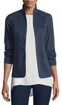Eileen Fisher Polished Ramie Stretch Jacket, Midnight, Plus Size