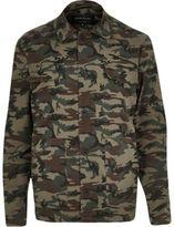 River Island MensGreen camo jacket