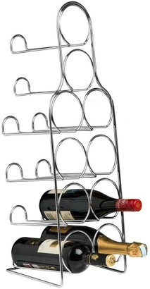 Premier Housewares Metal Wire 10-Bottle Wine Rack Chrome