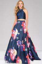 Jovani Two-Piece High Neck Prom Ballgown 48937