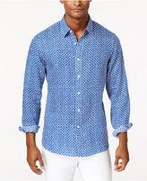 Michael Kors Men's Colby Geo-Print Linen Shirt