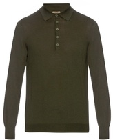 Bottega Veneta Long-sleeved merino-wool polo shirt