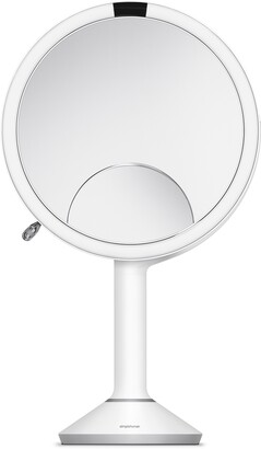 Simplehuman Trio Eight Inch Multi-Magnification Sensor Makeup Mirror