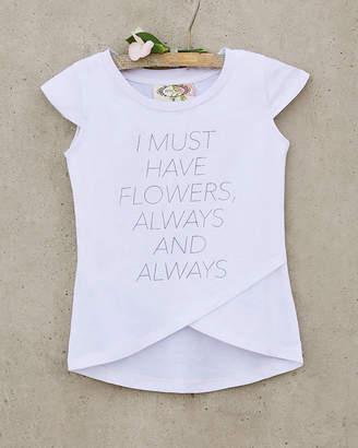Joyfolie Girls' Always Flowers Tee
