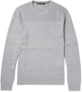 Michael Kors - Honeycomb Knit-panelled Cotton-blend Sweater