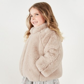 The White Company Faux-Fur Jacket (1-6yrs), Pink, 1 1/2-2yrs