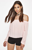 KENDALL + KYLIE Kendall & Kylie Printed Off-The-Shoulder Top