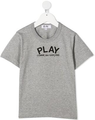 Comme Des Garçons Play Kids heart-print T-shirt