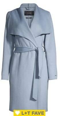 T Tahari Wool-Blend Wrap Coat