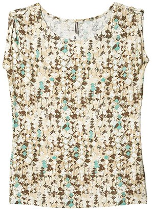 Royal Robbins Noe Print Short Sleeve Shirt II (Soapstone) Women's Clothing