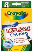 Crayola Dry Erase Crayons, Assorted, 8 per Pack