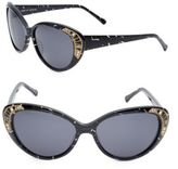 Judith Leiber 58MM Swarovski Crystal Cat's Eye Sunglasses
