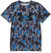 Under Armour Big Boys 8-20 UA TechTM Big Logo Novelty Camo Print Short-Sleeve Tee