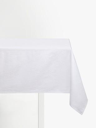 John Lewis & Partners Zari Jacquard Pattern Cotton Tablecloth, White