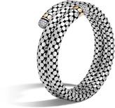 John Hardy Double Coil Bracelet with Diamonds