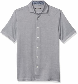 Bugatchi Men's Short Sleeve Full Button Knit