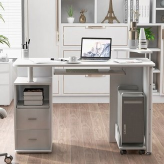 Latitude Run Colla Desk Color: White