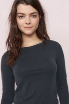 Garage Crew Neck Semi-Fitted Long Sleeve Top