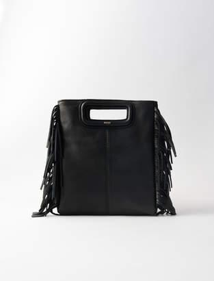 Maje Large fringed leather bag