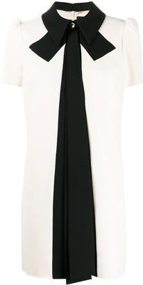 Elisabetta Franchi Contrast Bow Dress