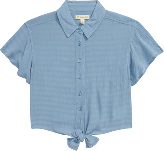 Tucker + Tate Tie Front Button-Up Shirt