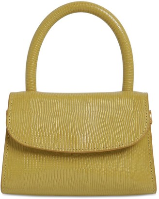 BY FAR Mini Lizard Embossed Leather Bag