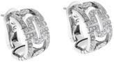 Bulgari 18K White Gold Diamond Parentesi Earrings