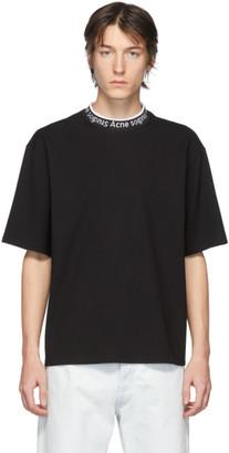 Acne Studios Black Logo Neck T-Shirt