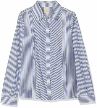 Scotch & Soda Girl's Regular Fit Shirt in Yarn Dyed Lurex Stripe Long Sleeve Top