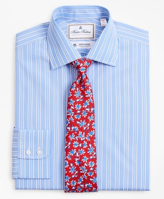 Brooks Brothers Luxury Collection Madison Classic-Fit Dress Shirt, Franklin Spread Collar Ribbon Stripe