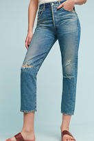 Citizens of Humanity Dree Ultra High-Rise Straight Cropped Jeans