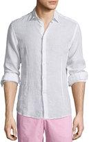 Orlebar Brown Morton Long-Sleeve Linen Shirt, White