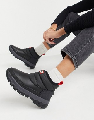 Hunter insulated snow boots in black