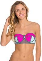 Bikini Lab Sporty Splice Bustier Bikini Top 8125413