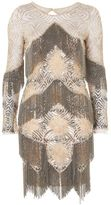 Topshop Fringe embellished shift dress