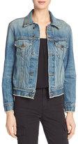 Vince Cropped Denim Jacket, Mid Blue Wash