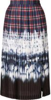 Altuzarra tie dye pleated skirt