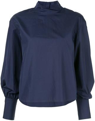 CK Calvin Klein Long-Sleeve Poplin Top