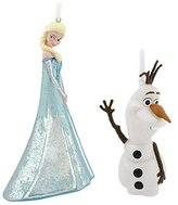 Hallmark Disney Frozen Elsa and Olaf Holiday Ornament, 2 Pack