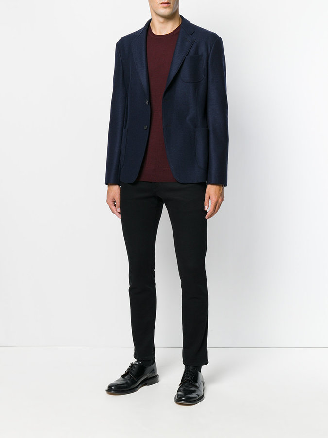 Giorgio Armani patch pocket blazer