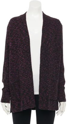 Apt. 9 Women's Space-Dyed Chenille Cardigan