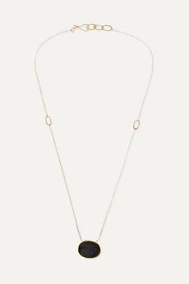 Melissa Joy Manning 14-karat Gold Agate Druzy Necklace
