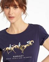 Joules Womens Official Burghley Horse Trials 2017 T shirt in French Navy